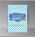 super sale banner mega discount background vector image vector image