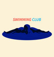 swimmer on white background vector image
