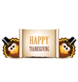 Thanksgiving Card Design Template Turkeys on a vector image