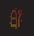 toothpaste icon design vector image