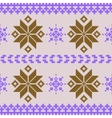 Violet and brown nordic knitted seamless pattern vector image