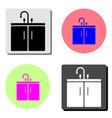 washbasin flat icon vector image