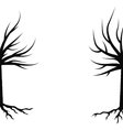 Winter Trees Silhouettes vector image