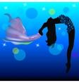 Girl gymnast Beautiful silhouette gymnast vector image