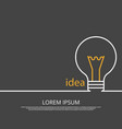 idea concept background with light bulb vector image