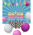 Abstract Background Happy Hanukkah Jewish Holiday vector image