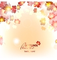 Abstract background of autumn leaf fall vector image