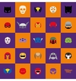 Abstract Halloween masks vector image