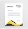 abstract yellow letterhead design template vector image vector image