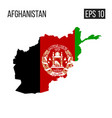 afghanistan map border with flag eps10 vector image