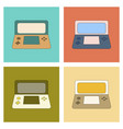 assembly flat icon game console vector image vector image