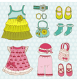 Baby Girl Set vector image vector image