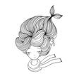 Beautiful young girl mermaid Sea theme vector image vector image