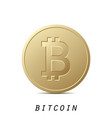 bitcoin icon isolated on white background design vector image vector image