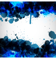 Blue ink blots background vector image