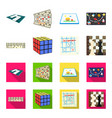 board game cartoonflat icons in set collection vector image vector image