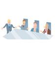 board of directors cartoon vector image