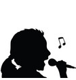 child silhouette singing vector image vector image