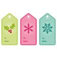Christmas present hang tags vector image vector image