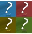 Color set question mark Flat modern web button vector image