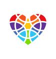 Colored heart logo Heart logo design Heart design vector image