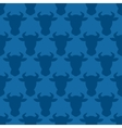 Cow head silhouette seamless pattern for design vector image