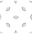 curly cloud pattern seamless black vector image vector image