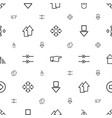 cursor icons pattern seamless white background vector image vector image