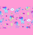 Cute unicorn seamless pattern magic dream kids