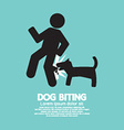 Dog Biting Symbol vector image vector image