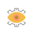 eye creative production business creative modern vector image