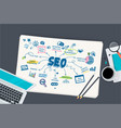 flat design concept for seo vector image