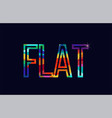 flat word typography design in rainbow colors logo vector image