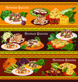german meat dishes salads and desserts vector image vector image