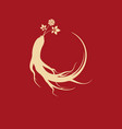 ginseng icon vector image