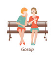 gossiping girls design vector image