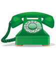 Green retro telephone vector image vector image