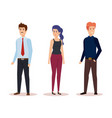 group of business people avatars characters vector image vector image