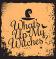 halloween vintage lettering witches concept design vector image vector image