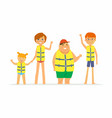 happy children on vacation - cartoon people vector image vector image