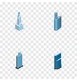 isometric construction set of skyscraper urban vector image