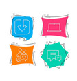 load document dating chat and laptop icons vector image
