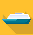 mammoth ship icon flat style vector image vector image