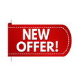 new offer banner design vector image vector image