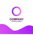 o company logo design with purple theme vector image vector image