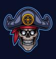 pirates head esport mascot logo vector image vector image