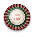 red green tartan best price badge with ribbon on vector image