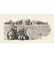 retro tractor vector image vector image
