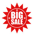 seal icon with big sale text vector image vector image