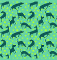 seamless pattern with dogs simple style animals vector image vector image